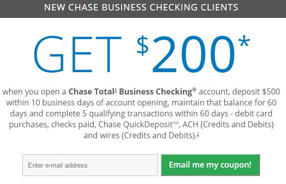 Chase Business Checking, $200 Bonus With No Direct Deposit Requirement