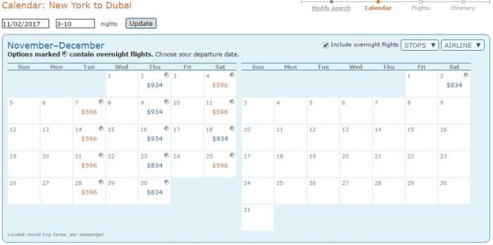 cheap fare NYC Dubai
