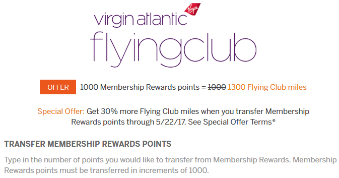 virgin atlantic transfer bonus