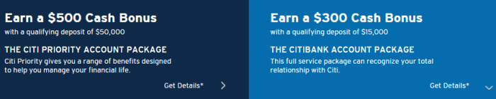 citi checking bonus