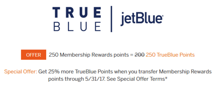 MR points jetblue promo