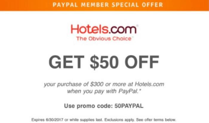 hotels.com paypal promo