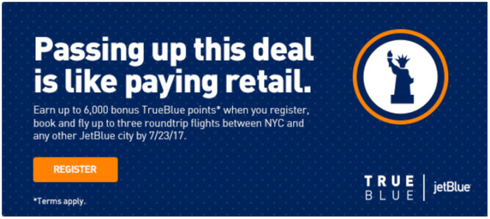 JetBlue 6K Bonus NYC