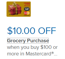 Stop&Shop/Giant, $10 Grocery Discount With $100 Mastercard Gift ...
