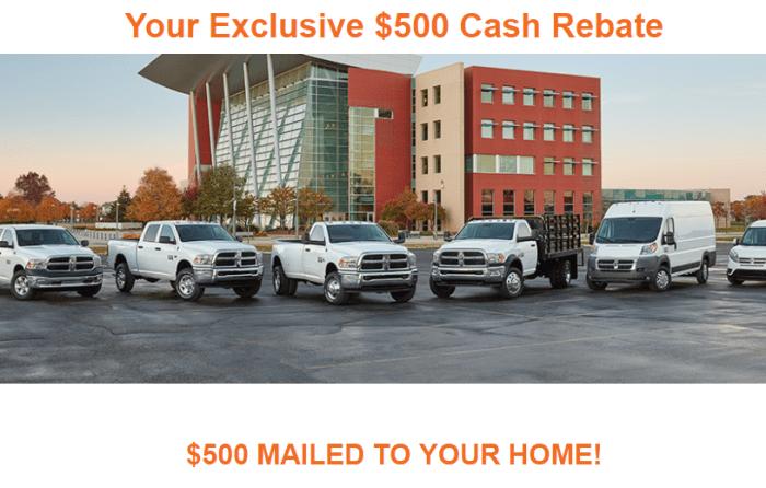 new car 500 rebate