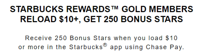 chase pay starbucks