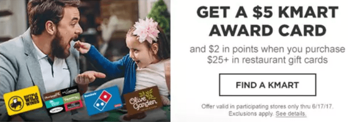 Kmart discounted gift cards