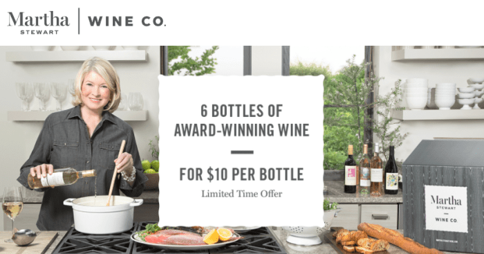 Martha Stewart Wine amex offer