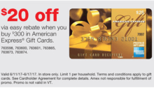 staples amex gift card deal