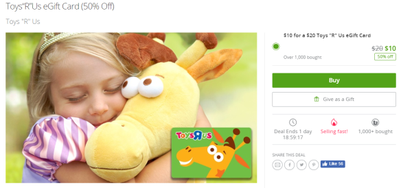"""Toys""""R""""Us eGift Card Toys R Us Groupon.png"""