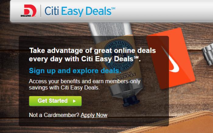 Citi Easy Deals amazon gift card