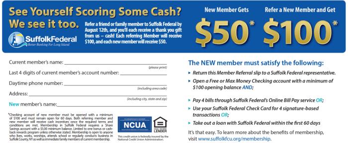 Suffolk FCU bonus 100