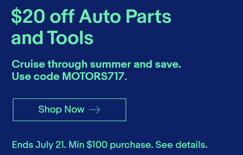 Ebay Sale Get 20 Off Auto Parts And Tools Targeted Danny The Deal Guru