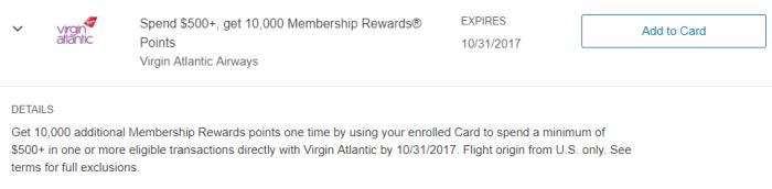 virgin atlantic amex offer