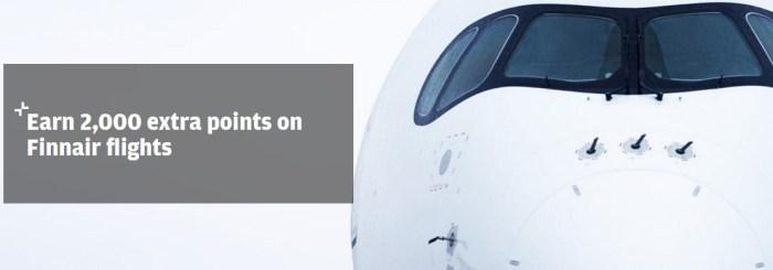 Finnair Plus promo 2k points