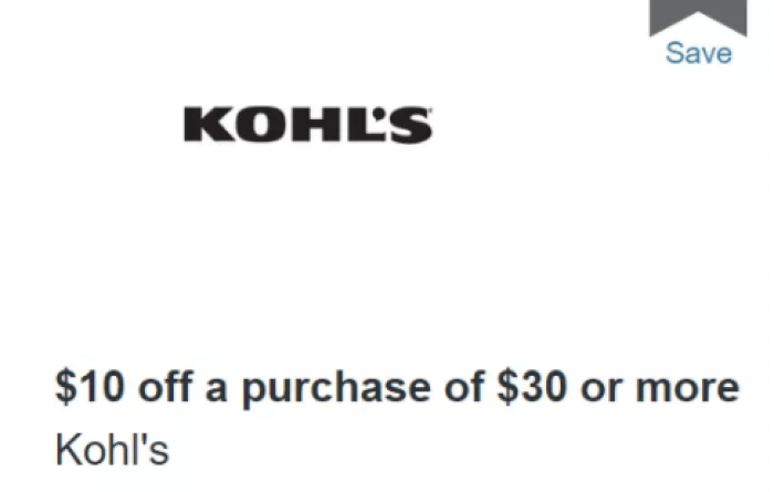 discover kohl's offer