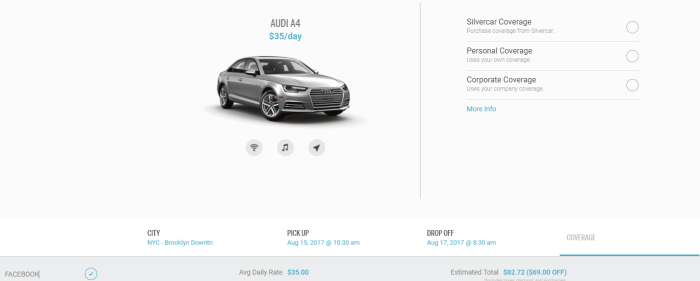 silvercar rental discount