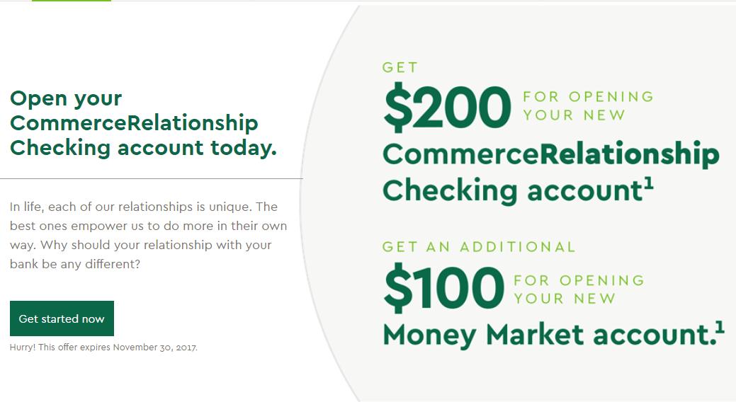 Expired] Commerce Bank, $300 Checking And Money Market Bonus