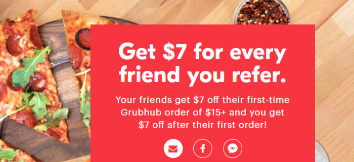 GrubHub  $7 Signup Bonus