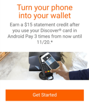 discover android pay promo