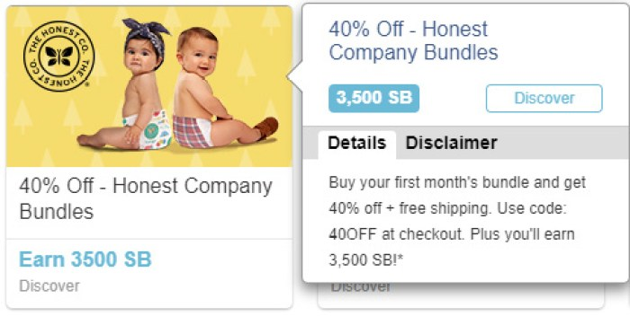 Swagbucks Honest Company Offer