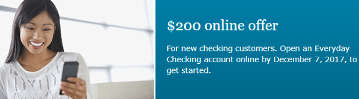 Wells Fargo $200 Checking Account Bonus