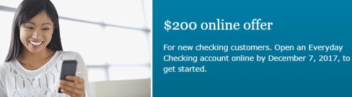 Wells Fargo $200 Checking Account Bonus