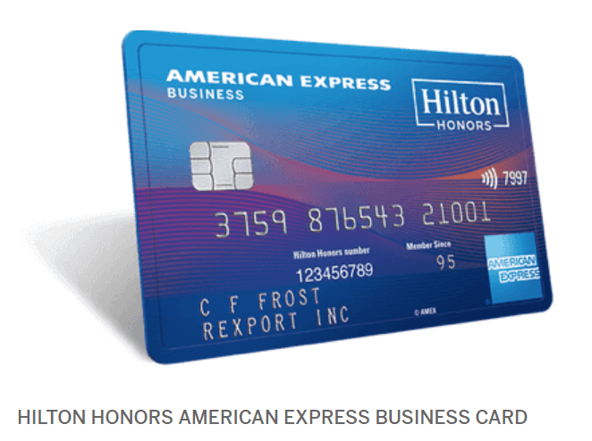 amex business hilton approved wrong card