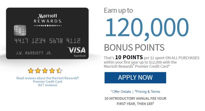 Chase Marriott Rewards 120K Offer