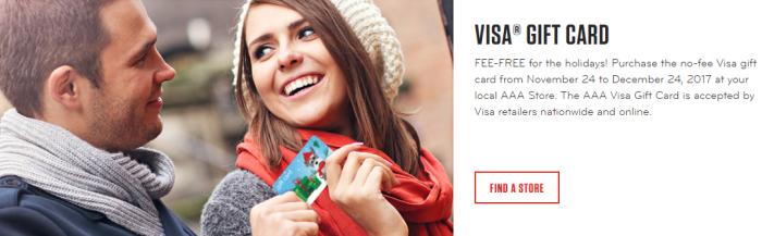 aaa No Fee Visa Gift Cards