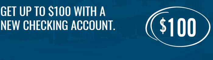 North Shore Bank, $100 Checking Bonus