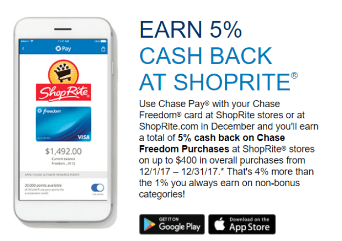 Expired] Earn 5X At ShopRite With Chase Pay, Up To $400 Spending