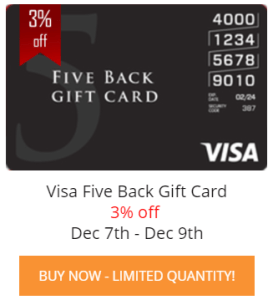 Five Back Visa Card For $485