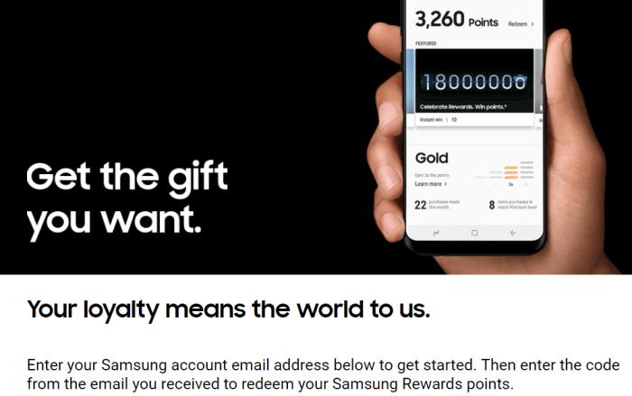 free Samsung Rewards Points