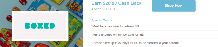 swagbucks boxed offer