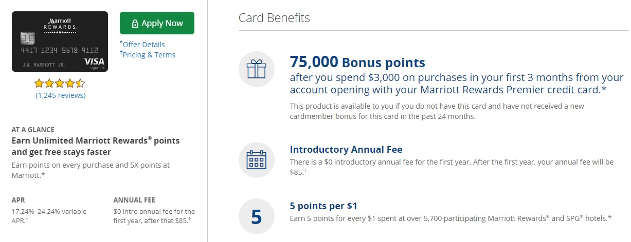 Chase Marriott Rewards Card, 75K Offer Plus Waived Annual Fee ...