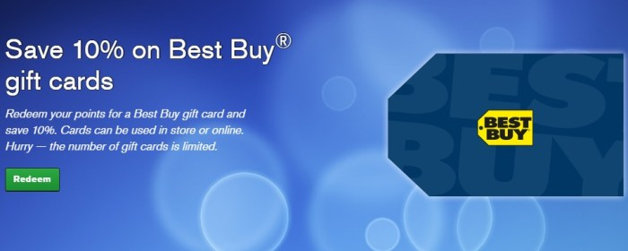 Chase Ultimate Rewards best buy gift cards