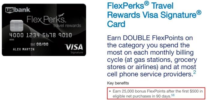 U.S. Bank FlexPerks Travel Rewards 25K