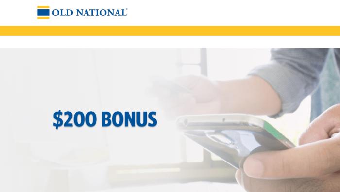 Old National Bank $200 Bonus