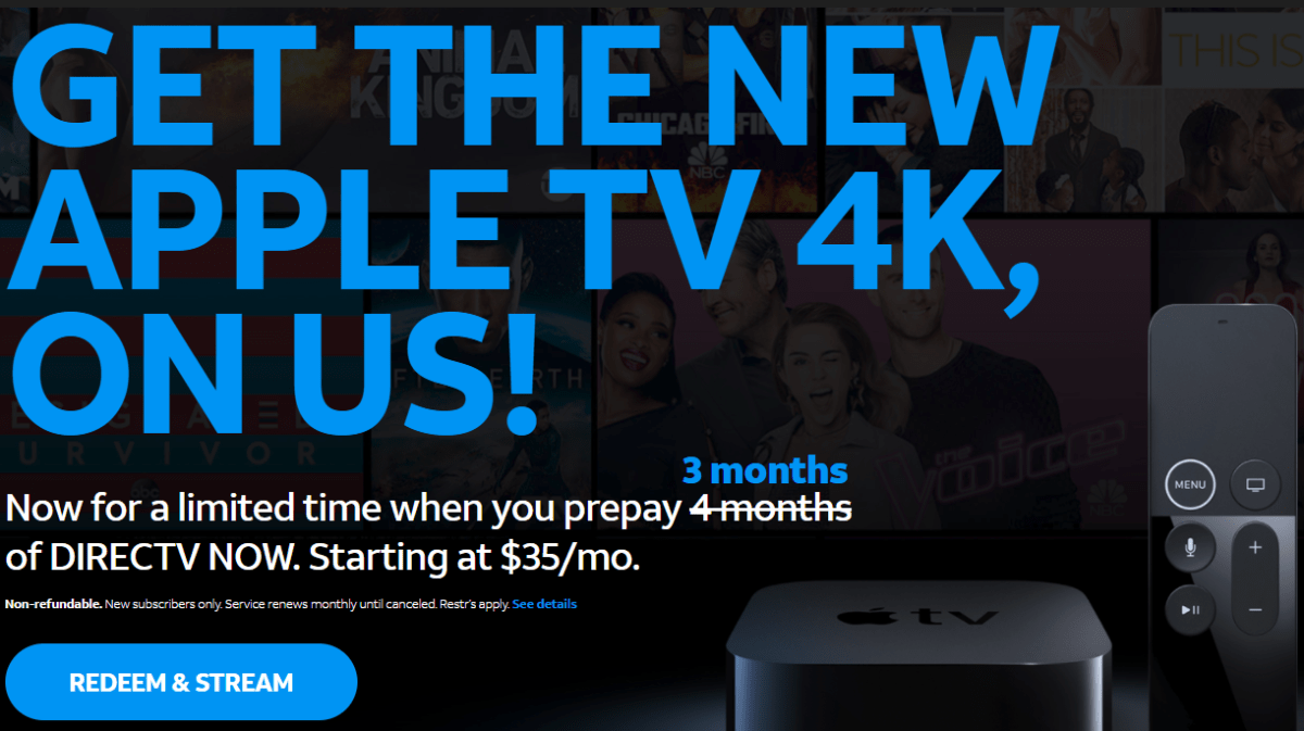 Free AppleTV & 3 Months of TV for $38/$48 OR $100 Moneymaker