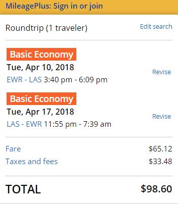nyc las vegas cheap flights