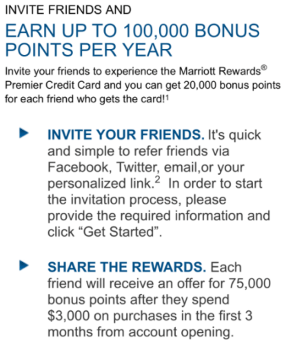 Chase Marriott Rewards Card referrals