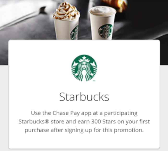 starbucks chase pay