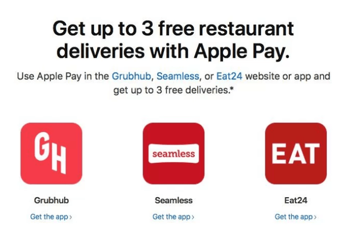 apple pay food delivery