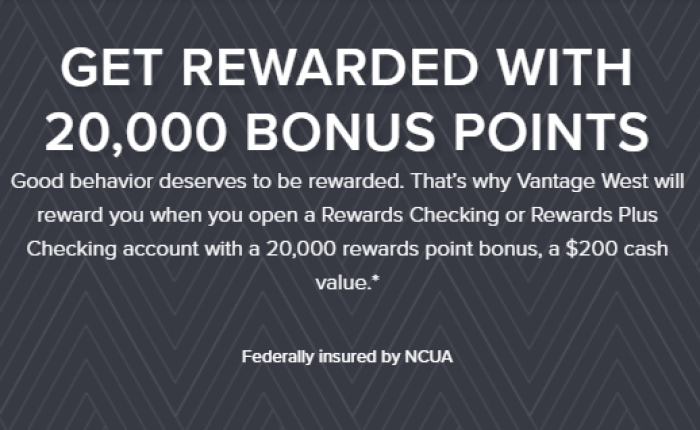 Vantage West Credit Union $200 Bonus