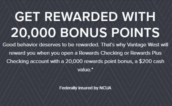 Vantage West Credit Union $200 Bonus
