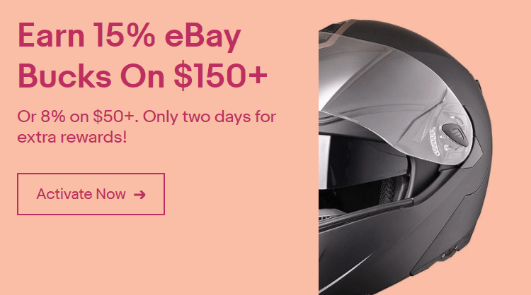 eBay Bucks Offer, Up to 15% Back Till 3/23 (Targeted)
