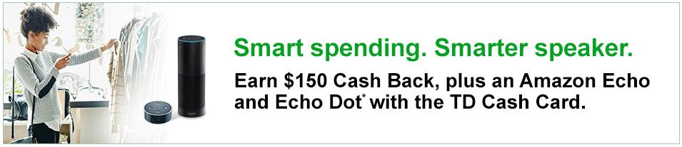 TD Cash Rewards Credit Card, $150 Signup Bonus Plus Free
