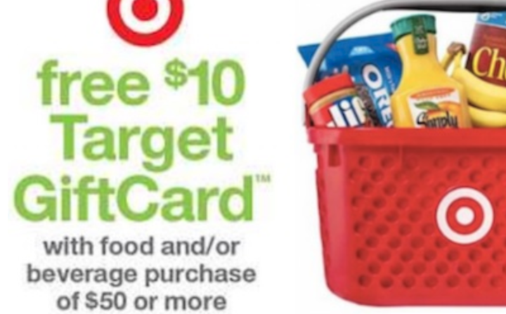 Target, Get $10 Gift Card When You Spend $50 on Food & Beverages