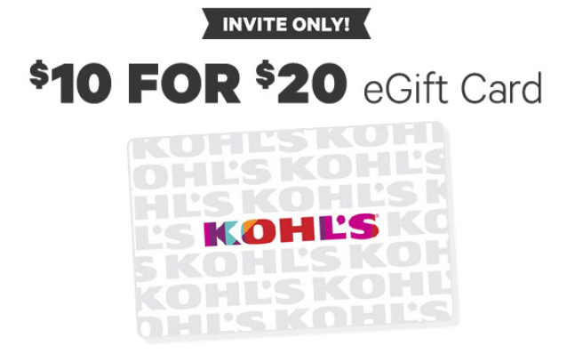 Groupon, Pay $10 For $20 Kohl's eGift Card (Targeted)